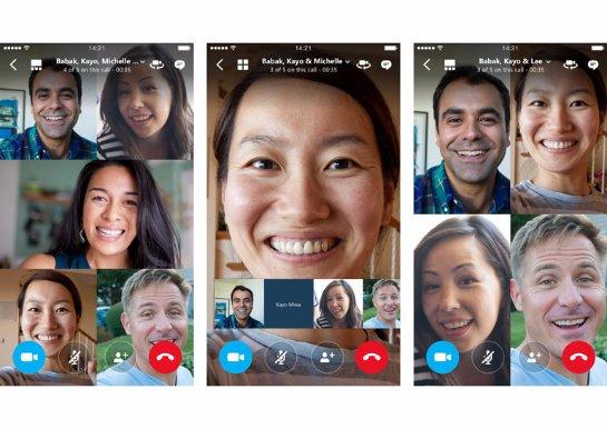 В Skype появилась функция групповых видеозвонков