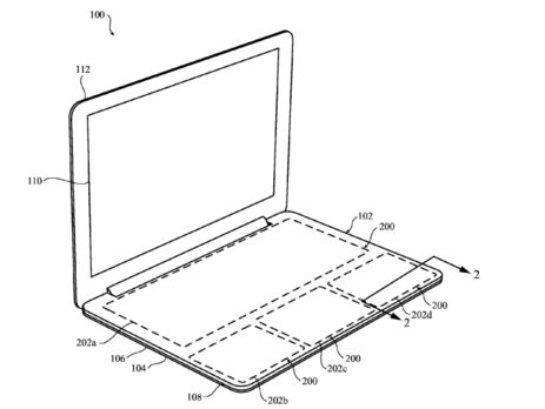 Корпорация Apple запатентовала бесклавиатурный ноутбук