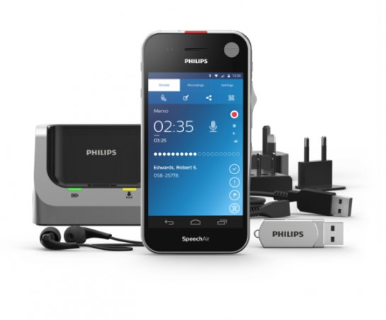 Philips SpeechAir- диктофон на Android
