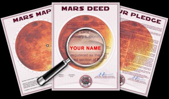 Марсианскую землю начали продавать