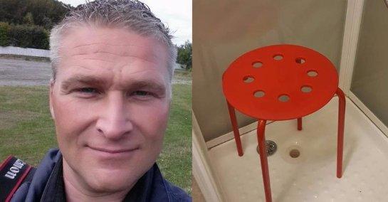 Тестикулы норвежского фотографа застряли в табуретке от IKEA