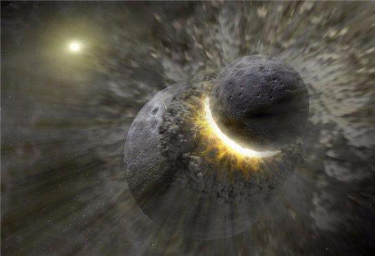 Ученые рассказали, как сталкиваются новорожденные планеты