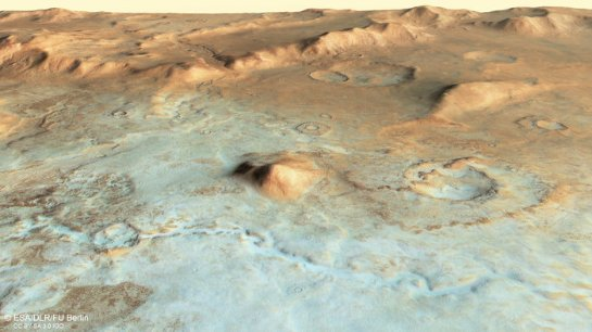 Красная планета когда-то была ледяной