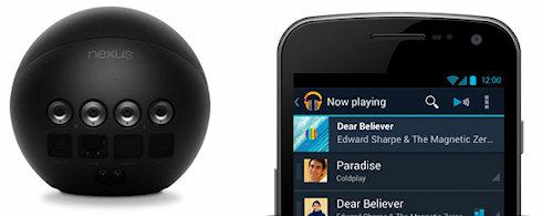 Социальный медиаплеер Google Nexus Q