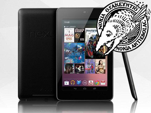 Nokia заявила о нарушении своих патентов в Google Nexus 7