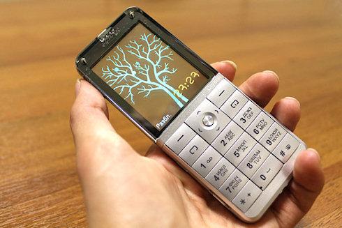 Телефон Explay Crystal с прозрачным экраном