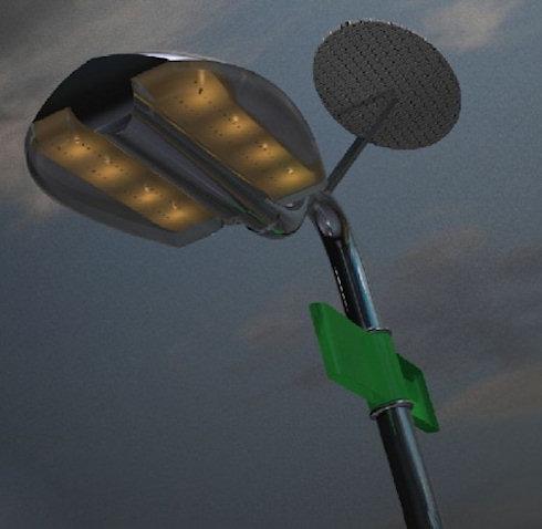 Уличный светильник Holonic – симбиоз солнца и ветра