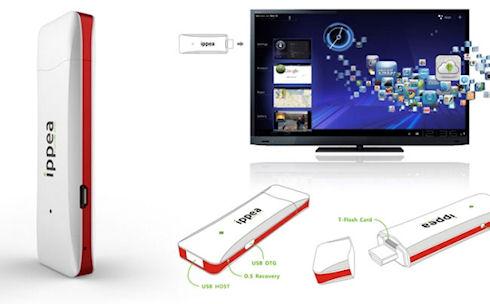 Миниатюрный компьютер iPPea TV на Android OS