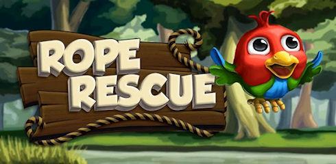 Rope Rescue: спасти попугаев