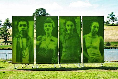 Живые портреты из травы