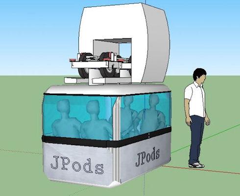 Jpod – умный общественный транспорт