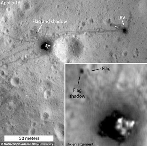 NASA представила фотографии лунных флагов