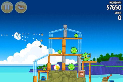 Angry Birds для iOS получила 15 новых уровней