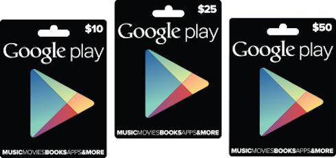 Начинаются продажи Google Play Gift