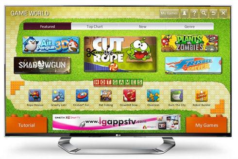 LG запускает игровой ресурс для SmartTV