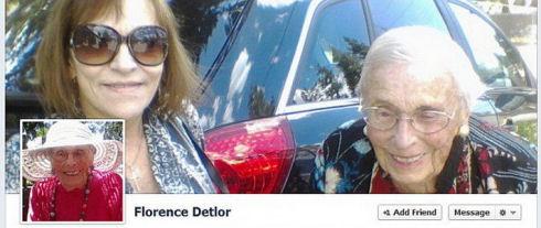 101-летняя Флоренс Детлор – старейший пользователь Facebook