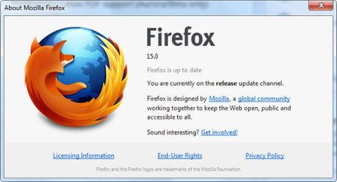 Firefox 15: оптимизация ядра и не только