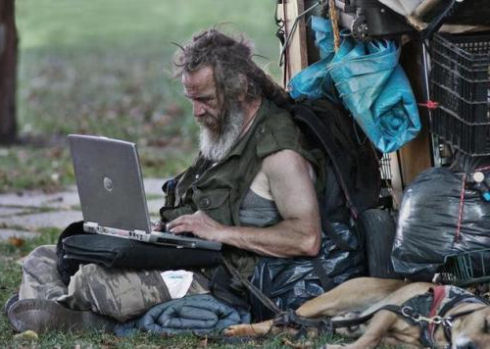 Социальные сети помогают бездомным