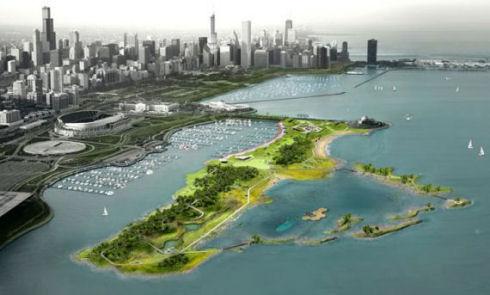 Искусственный остров превратят в парк для отдыха