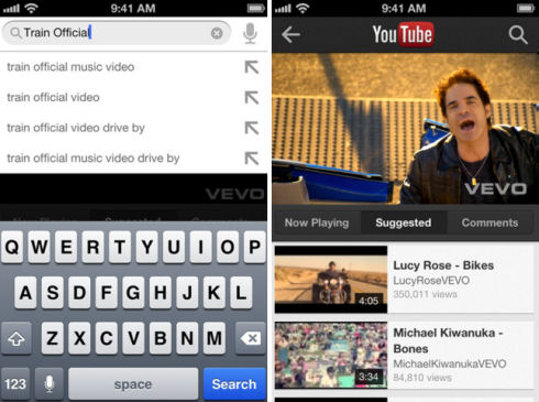 Клиент YouTube снова доступен для iOS