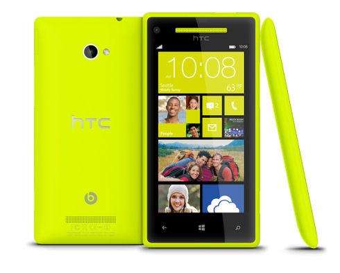 HTC 8X – мощный и яркий