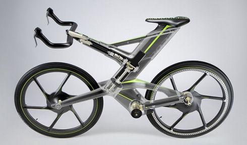 Велосипед CERV с автоподстройкой руля и седла