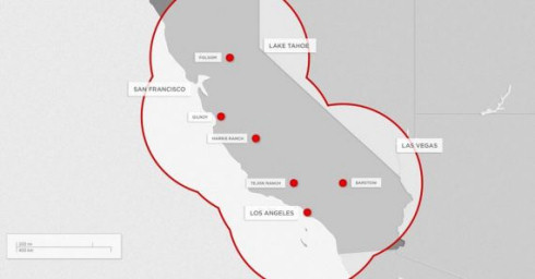 Зарядная сеть Supercharger для электрокаров Tesla Motors