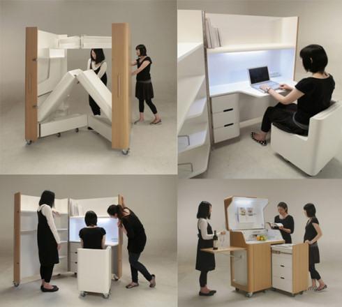 Мебель Kenchikukagu поможет в стесненных обстоятельствах