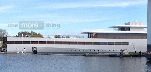 Яхта Стива Джобса спущена на воду