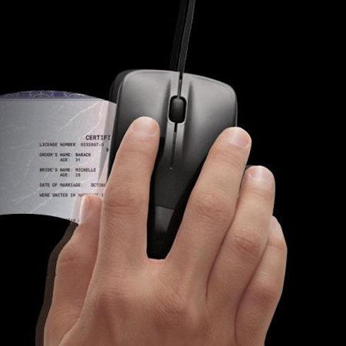 Brookstone Scanner Mouse – сканер и мышь в одном устройстве