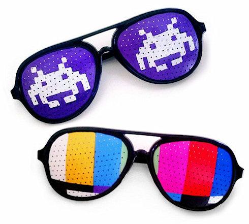 Дизайнерские очки с видами из старых игр
