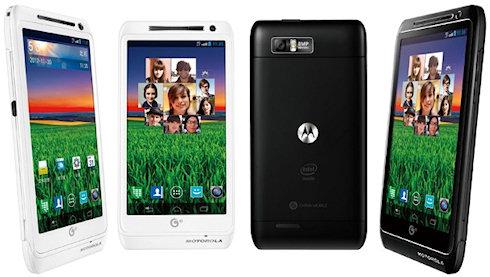 Смартфон Motorola MT788 с процессором Intel Atom 2ГГц