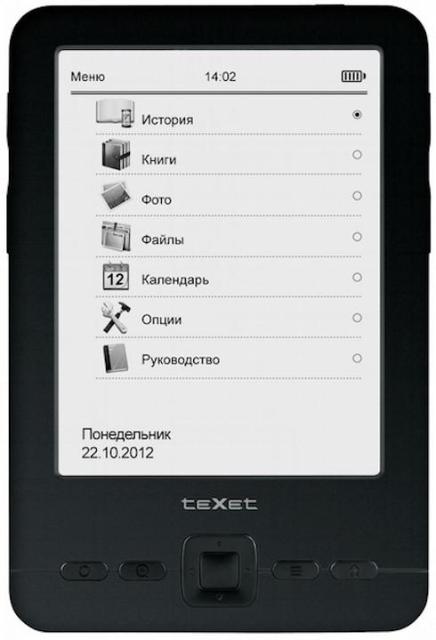 Электронный ридер teXet TB-436 с экраном 4,3 дюйма