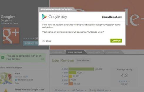 Для комментирования в Google Play потребуется авторизация