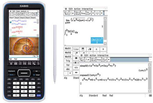 Калькулятор Casio FX-CP400 с сенсорным экраном