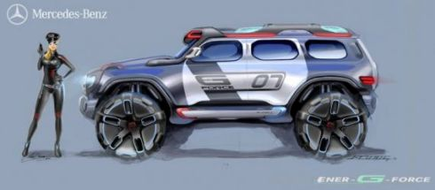 Mercedes Ener-G-Force – концепт внедорожника на воде