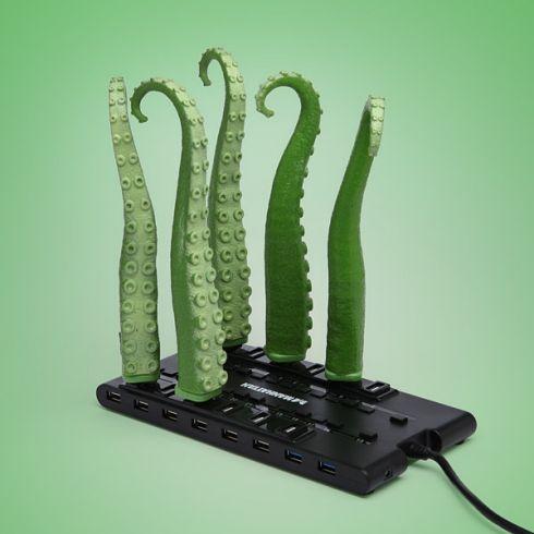 USB Squirming Tentacle – зеленые компьютерные щупальца
