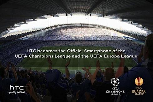 HTC стала официальным партнером Лиги Чемпионов