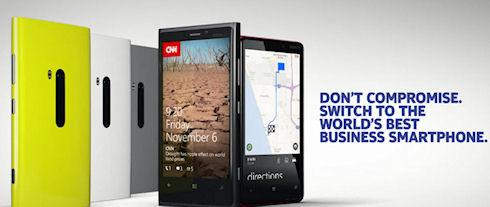 Nokia объявила смартфоны Lumia лучшими для бизнеса