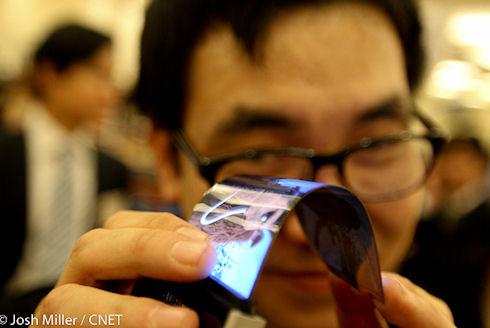 Гибкие дисплеи Samsung появятся на CES 2013