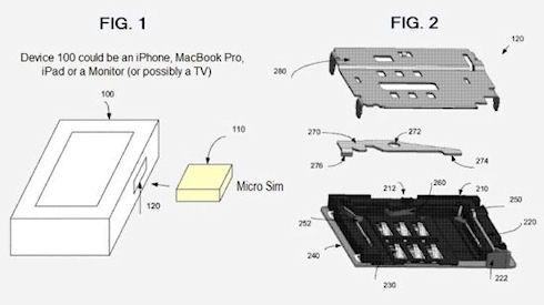 Apple получила патент на коннекторы для SIM-карт