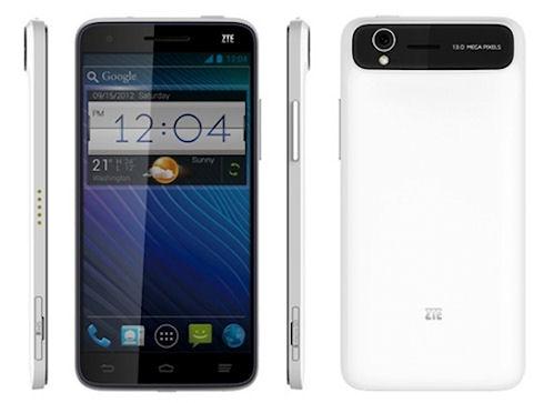 Смартфон ZTE Grand S показан на CES 2013