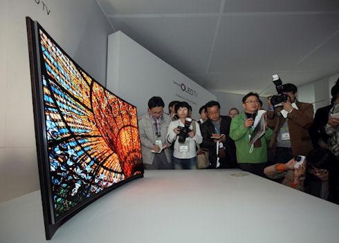 Samsung показала вогнутый телевизор
