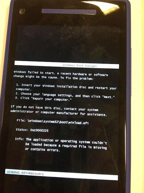 «Экран смерти» на смартфоне с Windows Phone