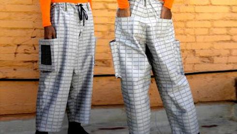 Солнечные батареи из рубашки и штанов