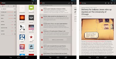 Press — удобная читалка для Google Reader