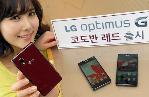 LG Optimus G владеют более 1 млн пользователей
