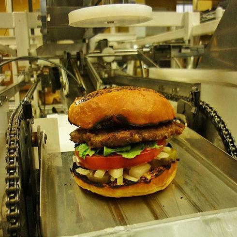 Гамбургер за 10 секунд