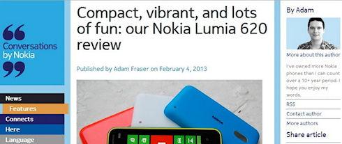Nokia публикует обзоры собственных смартфонов