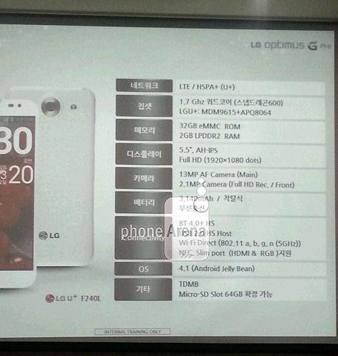LG представит Optimus G Pro до 5,5″